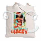 Moana Personalized Canvas Tote Bag