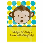 Mod Monkey Personalized Thank you Cards