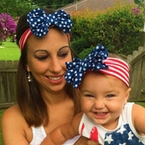 Mommy and Me Stars and Stripes matching turban headband