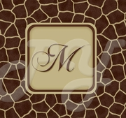 Monogrammed Giraffe personalized mouse pad