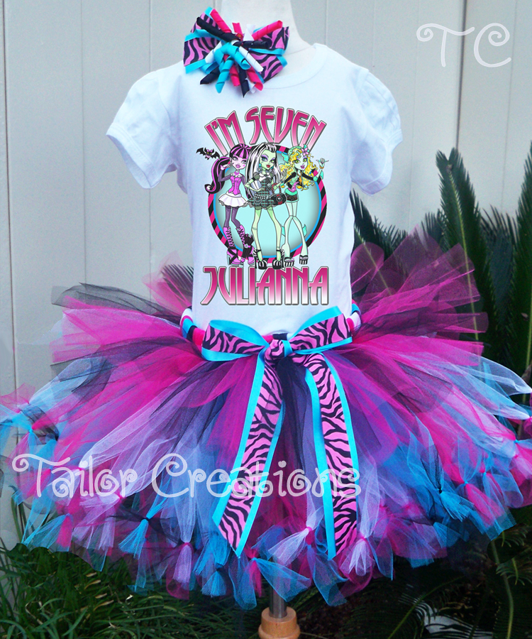 Monster High Personalized Birthday Tutu Set