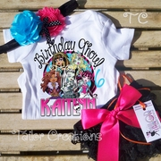 Monster High Personalized Petti Lace Set