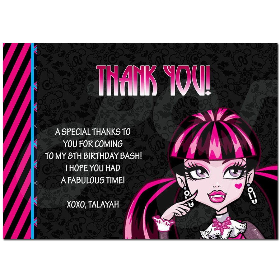 High Personalized Thank you Cards