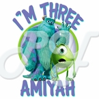 Monsters Inc Personalized Birthday t shirt