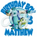 Monsters University Personalized Birthday t shirt
