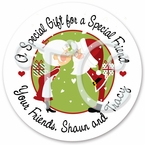 Mr and Mrs. Clause Stickers
