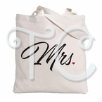 Mrs Personalized Canvas Tote Bag