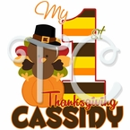 My 1st personalized turkey Thanksgiving t shirt