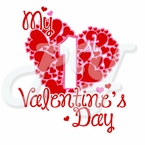 My 1st Valentine's Day Personalized T shirt