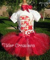 Olivia personalized tutu birthday set