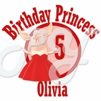 Olivia the Pig personalized birthday t shirt