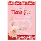 Olivia the Pig personalized thank you cards