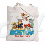 Paw Patrol Personalized Tote Bag