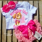Paw Patrol Skye Personalized Petti Lace Bloomers/Shorts