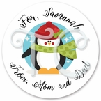 Penguin Christmas stickers
