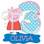 Peppa Pig Fairy Personalized Birthday t shirt