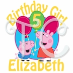 Peppa Pig Personalized Birthday t shirt