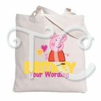 Peppa Pig Personalized Tote Bag