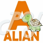 Personalized Alphabet Name Turtle t-shirt