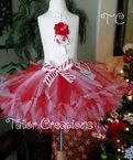 Personalized Christmas Candy Cane petti tutu set