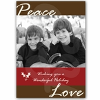 Personalized Christmas holiday Photo Greeting Card