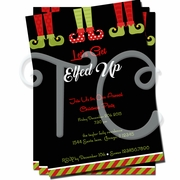 Let's Get Elfed Up Christmas Invitations