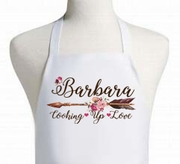 Floral Arrow Cooking Up Some Love Personalized Apron
