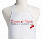 Personalized Cooking up Love Valentine's Day Apron