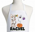 Personalized Halloween ghost apron