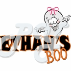 Personalized Halloween ghost BOO t shirt - Girl