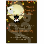 Personalized Halloween Owl invitations