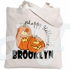 Personalized Halloween Pumpkin tote bag