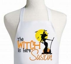 Personalized Halloween Sexy Witch Apron
