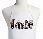Personalized Holiday Santa Apron