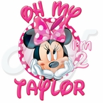 Personalized Pink Minnie Mouse Birthday t shirt