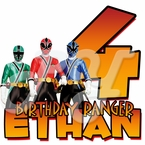 Personalized Power Rangers Samurai birhtday t shirt