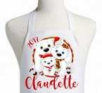 Personalized Polar Bear Christmas Apron