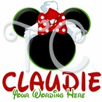 Personalized Santa Minnie Mouse Christmas t shirt