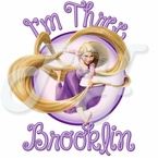 Personalized Tangled Birthday t-shirt
