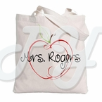 Personalized Teacher Apple  Tote bag
