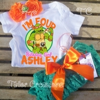 Personalized Teenage Mutant Turtles Michelangelo petti lace set