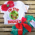 Personalized Teenage Mutant Turtles Raphael petti lace set