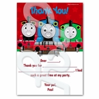 Personalized Thomas the Train Thank you cards