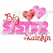 Personalized Valentine's Day Big/Lil' Sister T shirt