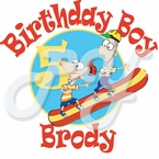 Phineas and Ferb personalized birthday t shirt