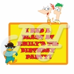 Phineas and Ferb personalized party favor