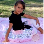 Pink and Black Polka dot pettiskirt
