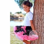 Pink and Polka dot print Pettiskirt