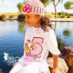 Pink Cowgirl personalized birthday t shirt