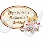 Pink Cowgirl personalized party favor
